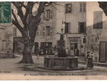 Place du marché vers 1930