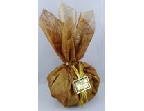 Pochon en tissu intissé contenant 165g de petites bouchées des trois qualités de nougat (nougat noir, nougat blanc Provence et nougat blanc Félibres)